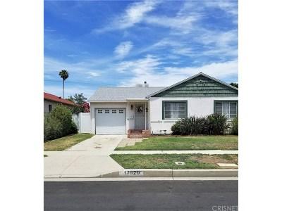 Encino Single Family Home For Sale: 17929 Califa Street