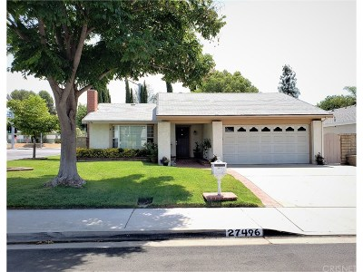 Los Angeles County Single Family Home For Sale: 27496 Cherry Creek Drive