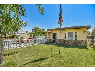 Quartz Hill Single Family Home For Sale: 42338 52nd Street West
