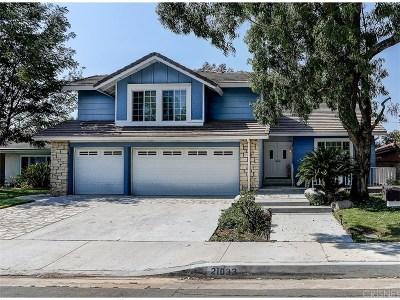 Saugus Single Family Home For Sale: 21033 Susan Carole Drive