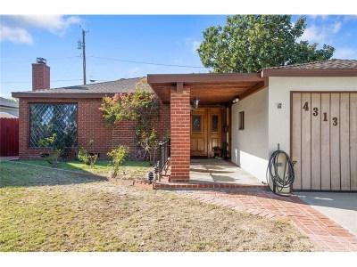 Burbank Single Family Home For Sale: 4313 West Woodland Avenue