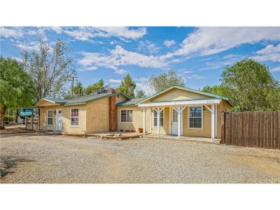 Acton Single Family Home For Sale: 32476 Aliso Canyon Road