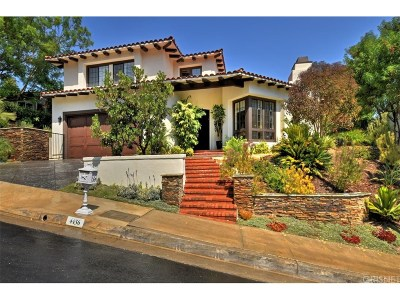 Calabasas Single Family Home For Sale: 4436 Alta Tupelo Drive