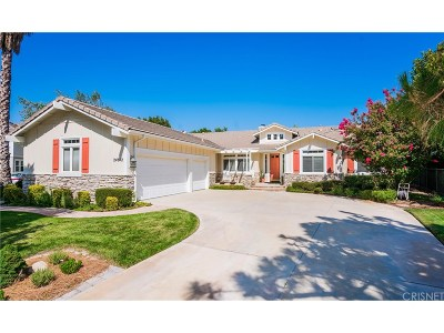 Newhall Single Family Home For Sale: 24812 Horseshoe Lane