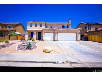 Rosamond Single Family Home For Sale: 2430 Newberry Street