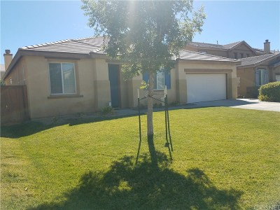 Rosamond Single Family Home For Sale: 3312 Palm Frond Street