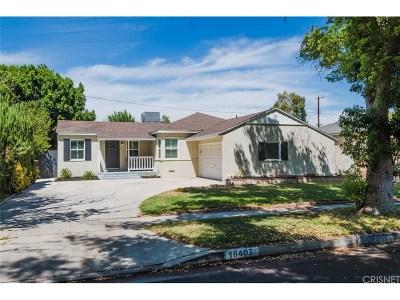Tarzana Single Family Home For Sale: 18407 Domino Street