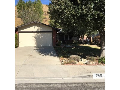 Castaic Single Family Home For Sale: 31679 Bobcat Way