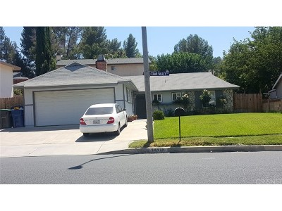 Newhall Single Family Home For Sale: 18916 Cedar Valley Way