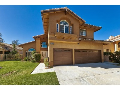 Canyon Country Single Family Home For Sale: 14356 Cascade Court