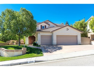 Saugus Single Family Home For Sale: 22848 Boxwood Lane