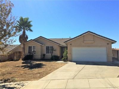 Rosamond Single Family Home For Sale: 3465 Starjet Street