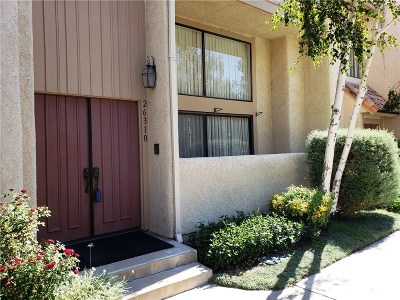 Calabasas Condo/Townhouse For Sale: 26310 West Bravo Lane
