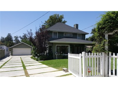 Altadena Single Family Home Active Under Contract: 144 East Pine Street