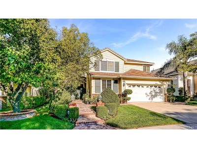 Stevenson Ranch Single Family Home For Sale: 26035 Bates Place