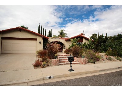 Thousand Oaks Single Family Home For Sale: 1951 Daylight Court