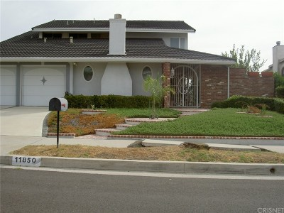 Northridge Single Family Home For Sale: 11850 Porter Valley Drive