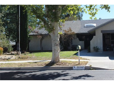 Saugus Single Family Home For Sale: 22297 Canones Circle