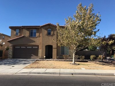 Palmdale Single Family Home For Sale: 1201 Stanfill Road