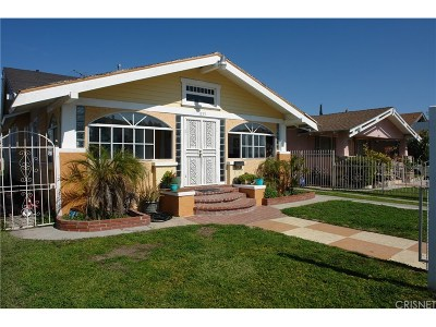 Los Angeles Single Family Home For Sale: 1135 West 53rd Street