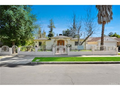 Valley Glen Single Family Home Active Under Contract: 5750 Mammoth Avenue