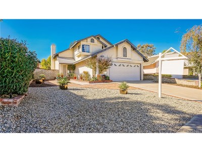 Saugus Single Family Home For Sale: 28813 Raintree Lane