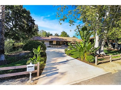 Westlake Village Single Family Home Sold: 31717 Foxfield Drive