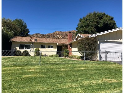 Saugus Single Family Home For Sale: 22451 Los Rogues Drive