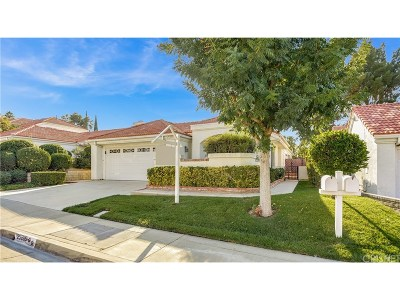 Los Angeles County Single Family Home Active Under Contract: 25889 Milano Lane