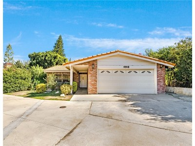 Woodland Hills Single Family Home For Sale: 4918 Llano Drive