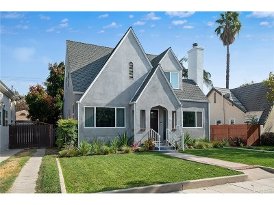 Burbank Single Family Home Active Under Contract: 624 South Griffith Park Drive