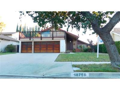 Northridge Single Family Home For Sale: 18750 Merridy Street