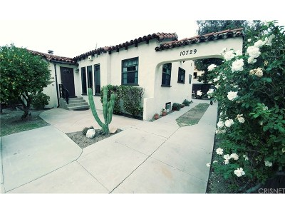 Studio City Single Family Home For Sale: 10729 Aqua Vista Street