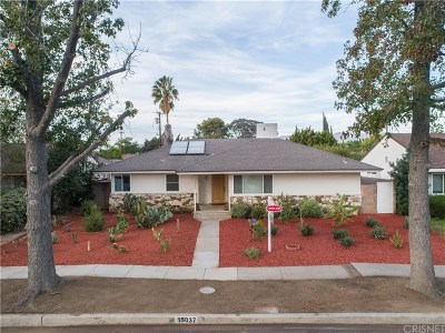 Single Family Home For Sale: 15037 Tuba Street