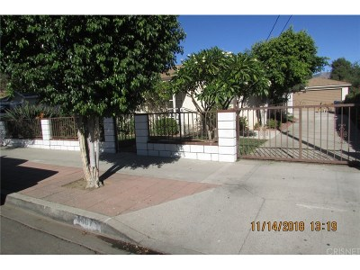 San Fernando Single Family Home For Sale: 1407 Woodworth Street
