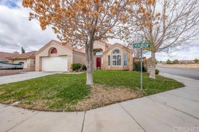 Rosamond Single Family Home For Sale: 1125 Evergreen Court