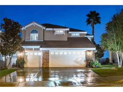 Stevenson Ranch Single Family Home Active Under Contract: 25512 Clemens Court