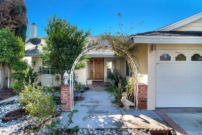 Encino Single Family Home For Sale: 18008 Delano Street