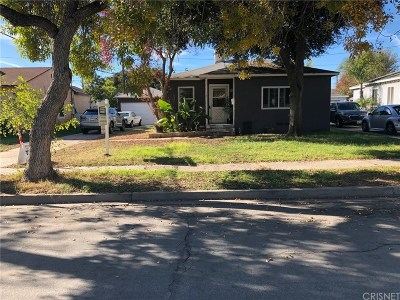 Burbank Single Family Home Active Under Contract: 2109 North Manning Street