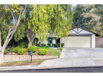 Saugus Single Family Home For Sale: 22649 Calvello Drive