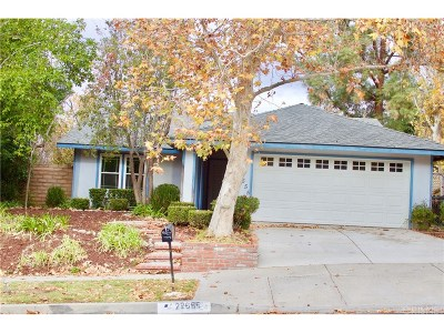 Saugus Single Family Home For Sale: 22655 Barcotta Drive