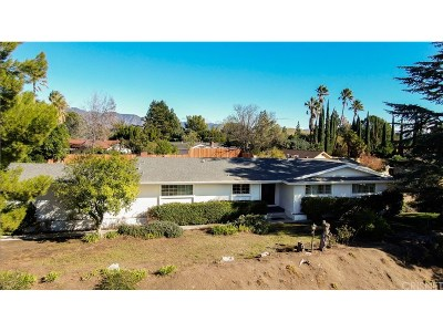 Granada Hills Single Family Home For Sale: 16510 Knollwood Drive