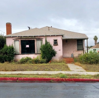 Los Angeles Single Family Home For Auction: 10601 Ruthelen Street