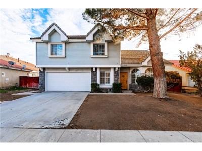 Rosamond Single Family Home For Sale: 1040 Cloverdale Court