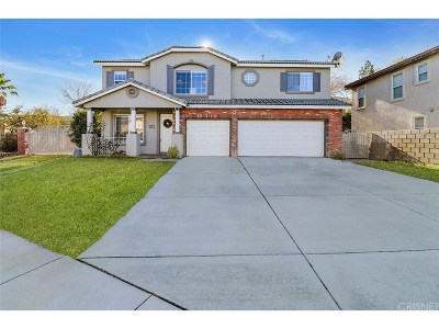 Palmdale Single Family Home For Sale: 3512 Parkmeadow Court