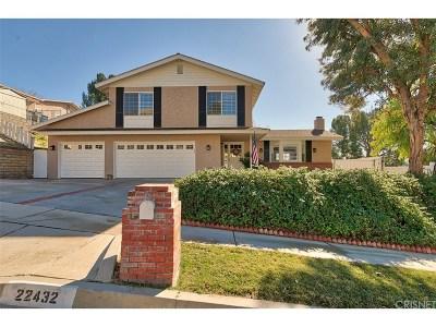 Saugus Single Family Home For Sale: 22432 Barbacoa Drive