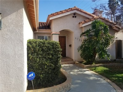 Toluca Lake Single Family Home Active Under Contract: 4720 Bellflower Avenue