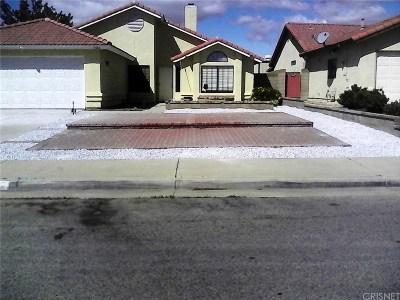 Rosamond Single Family Home For Sale: 3341 Toby Street