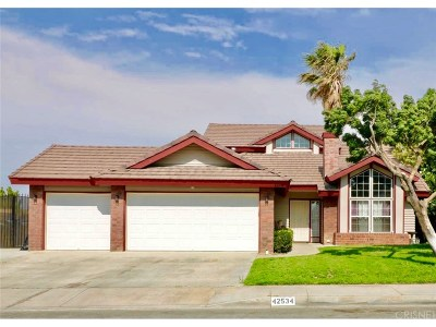 Quartz Hill Single Family Home For Sale: 42534 62nd Street West