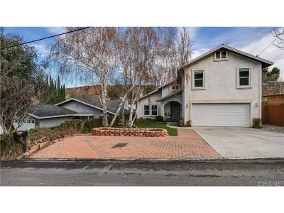 Castaic Single Family Home For Sale: 29513 Hunstock Street